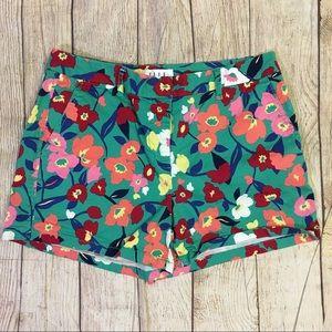 Elle Floral Print Shorts Size 8